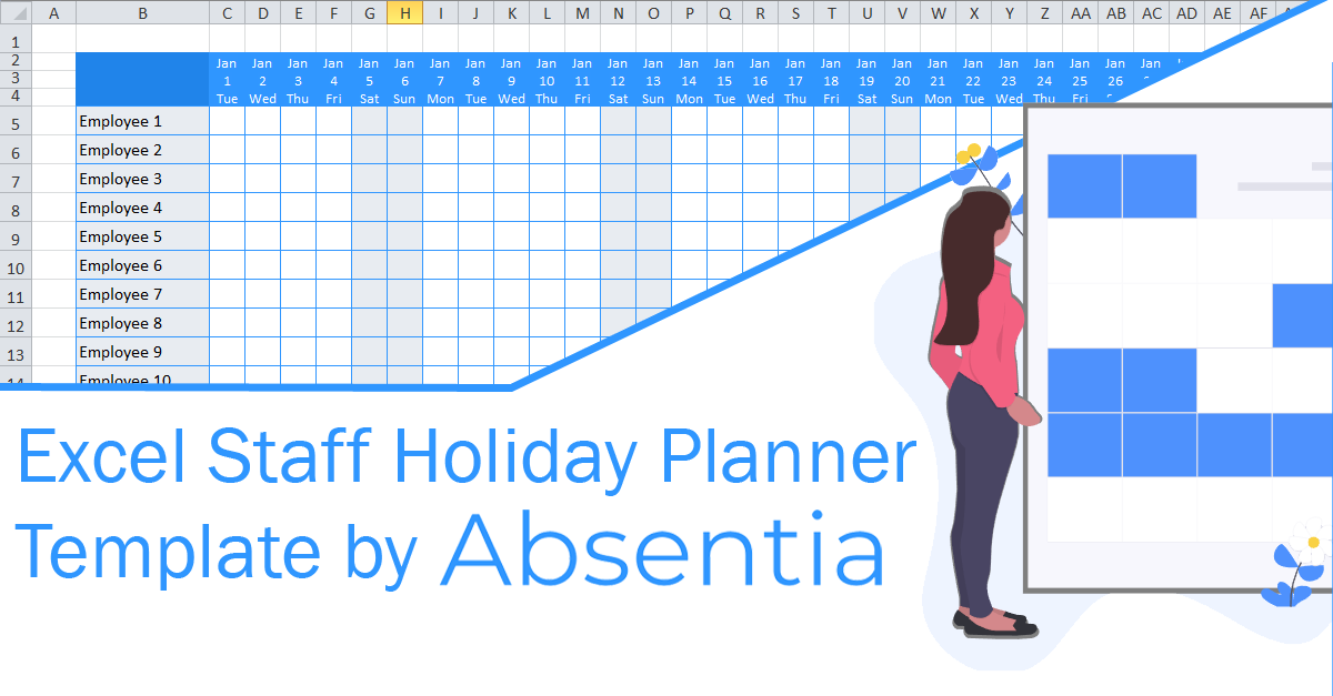 Excel Staff Holiday Planner The Ultimate Free Template